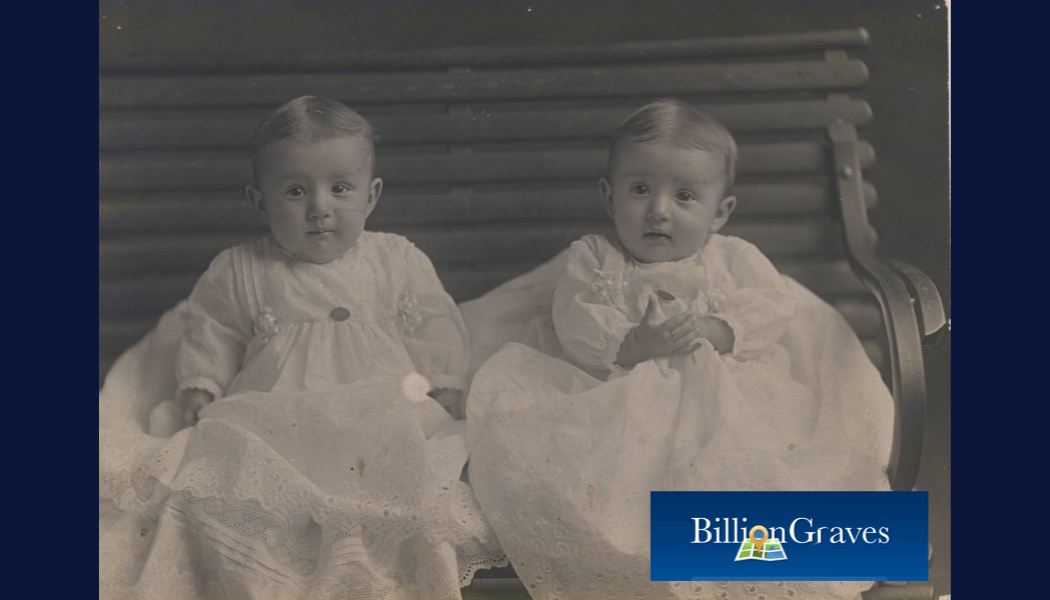 BillionGraves, twins, family history, genealogy, vintage photo, twin babies, BillionGraves