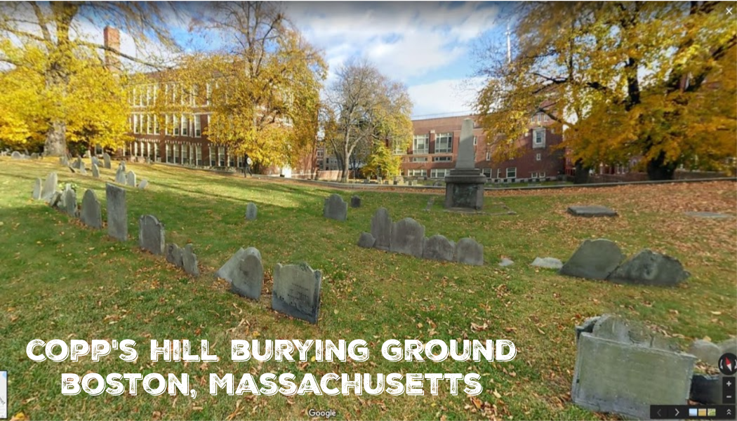 BillionGraves, fall foliage, fall color tour, autumn leaves, Copp's Hill Burying Ground, cemetery photo trip, BillionGraves app, Boston, Massachusetts, Google maps