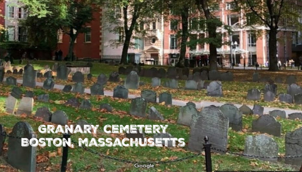 Google maps, BillionGraves, Granary Cemetery, Boston, Massachusetts, fall foliage, cemetery photo tour, gravestones, founding fathers, burying ground, BillionGraves app
