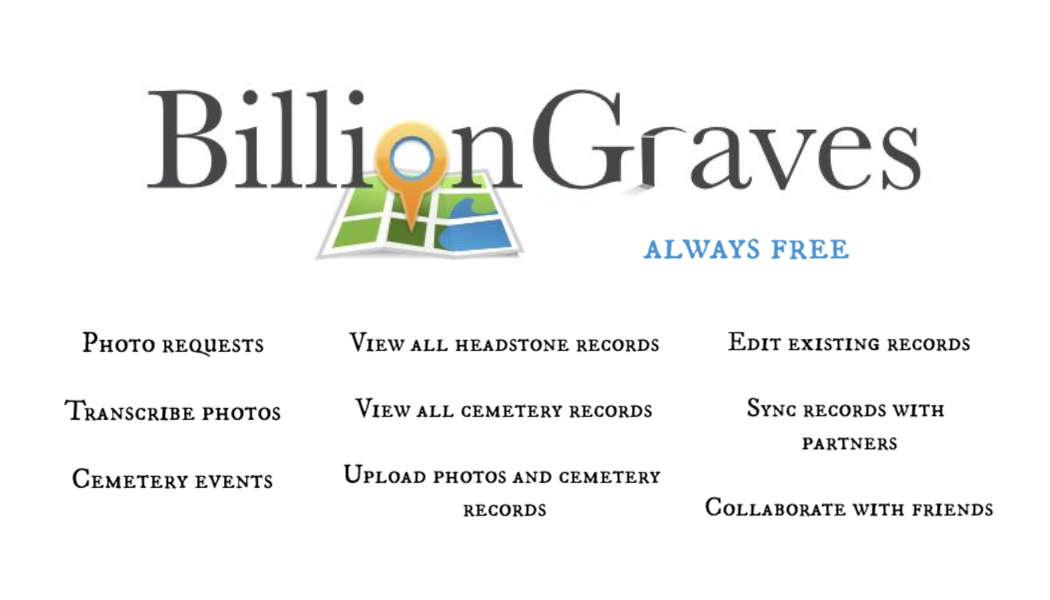 BillionGraves, features, headstones, BillionGraves