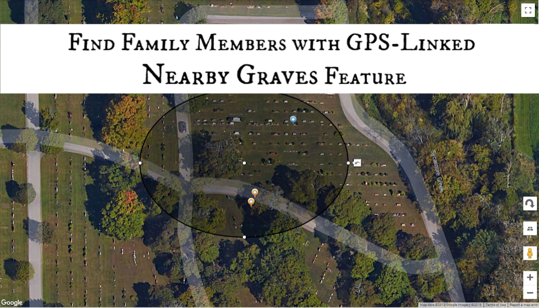 BillionGraves Plus, family, GPS, BillionGraves, nearby graves feature