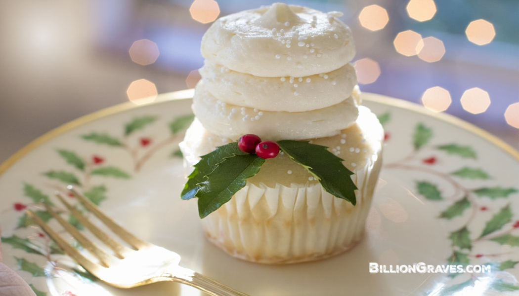 BillionGraves, genealogy, Christmas dessert, cupcake, food, recipe, family recipes, BillionGraves