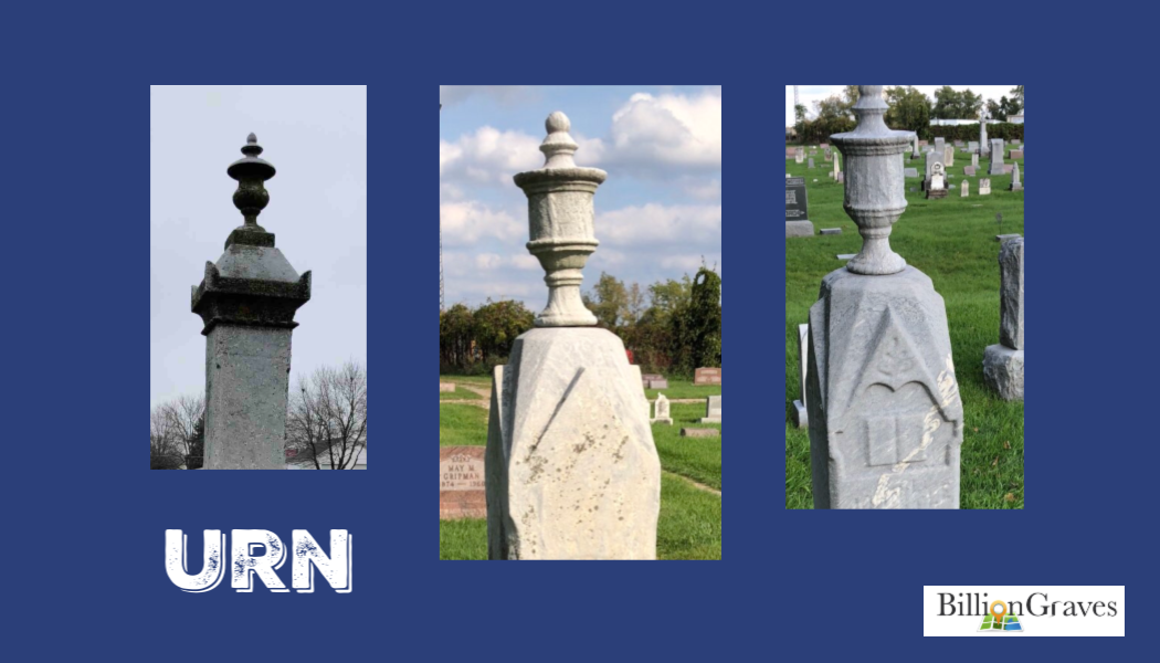 urn, cemetery symbol, BillionGraves, BillionGraves