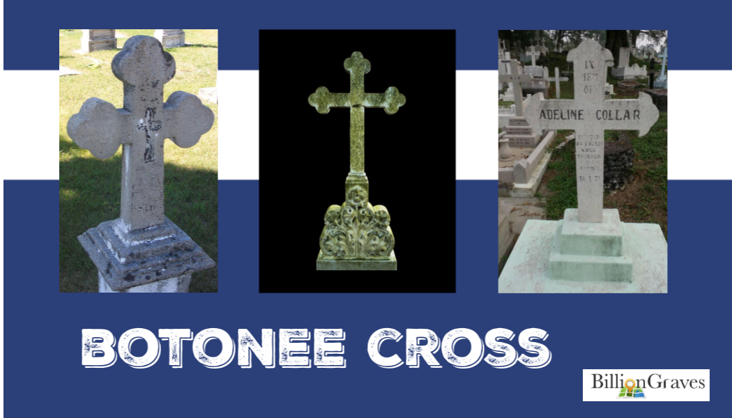 BillionGraves, cemetery, symbols, genealogy, bontonee cross, faith, BillionGraves