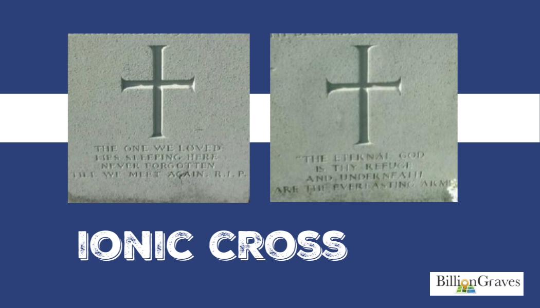 cemetery, gravestone, BillionGraves, h, ihs, Ionic cross, genealogy