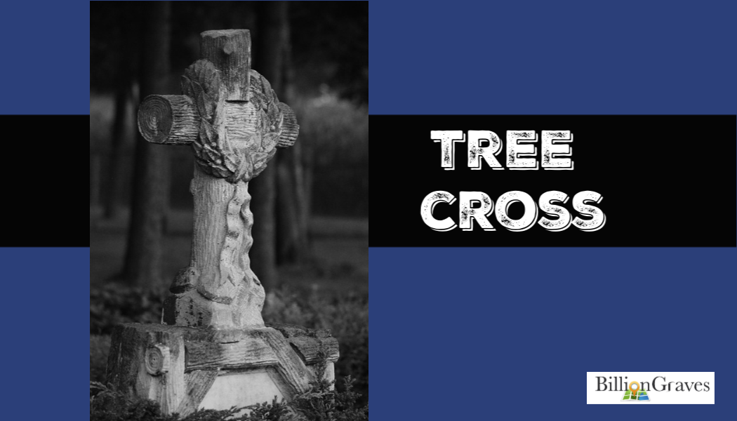 Tree cross, cemetery, genealogy, BillionGraves, cemetery, gravestone