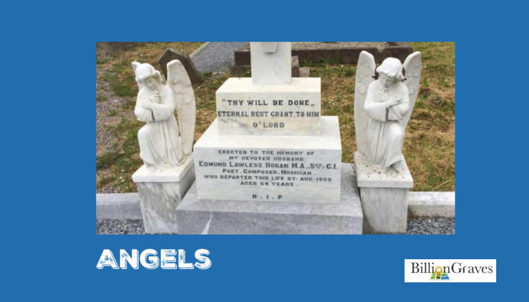 angels, cemetery, gravestone, BillionGraves, ancestors, BillionGraves, c, grave, Irish, Ireland, BillionGraves