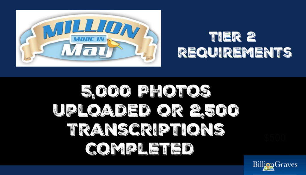 Million in May contest, BillionGraves, cemetery data, cemetery map, GPS, Million More in May competition, prizes, win, contest, BillionGraves, genealogy, ancestors, b, c,