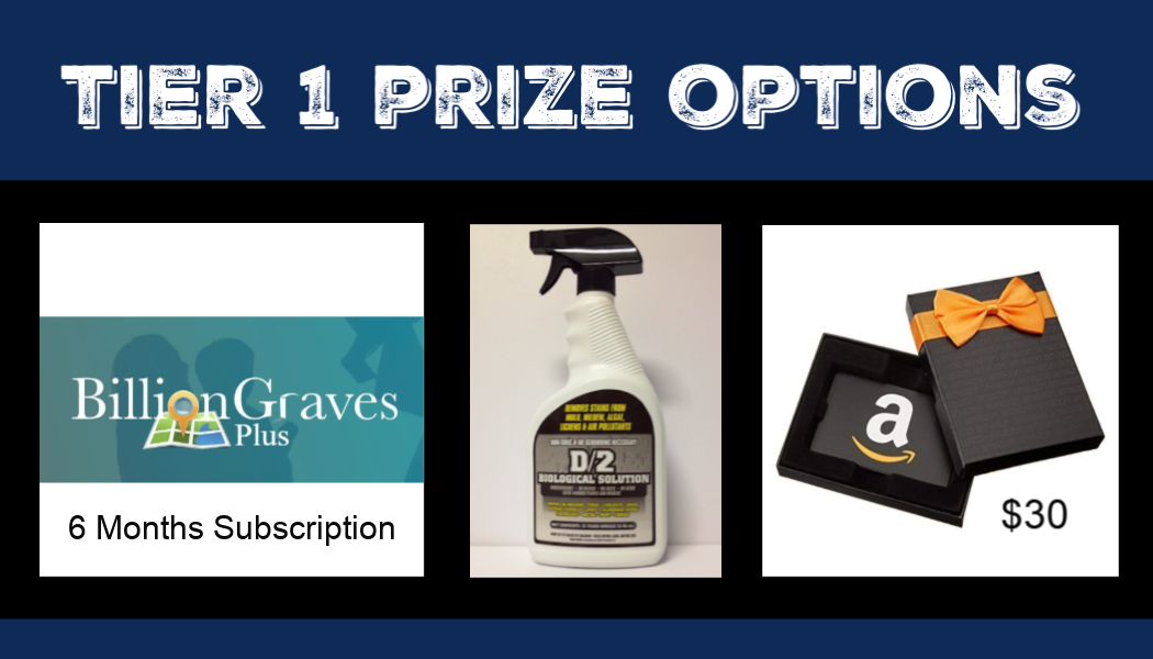 Amazon gift cards, Amazon, BillionGraves Plus, BillionGraves, cemetery data, cemetery map, GPS, Million More in May competition, prizes, win, contest, BillionGraves, genealogy, ancestors