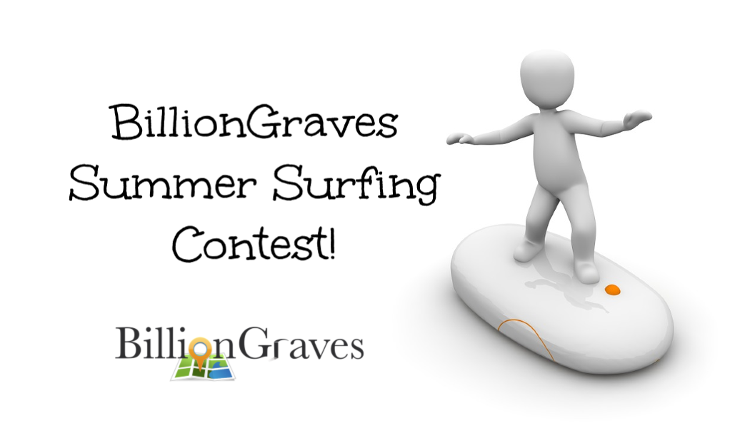 BillionGraves, winner, trophy, prize, contest, cemetery, gravestone, GPS, photos, genealogy, ancestors, family history