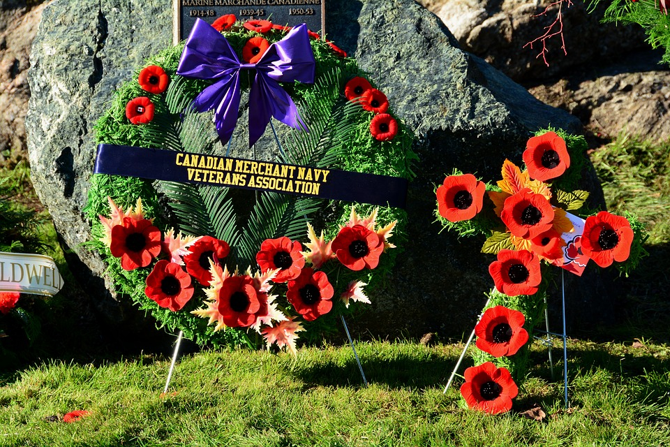 cemetery, BillionGraves, Remembrance Day, Veterans, World War I, history, family history, genealogy, BillionGraves, ancestry, ancestors, heritage, Canadian Navy, wreaths, poppy, poppies, November 11th