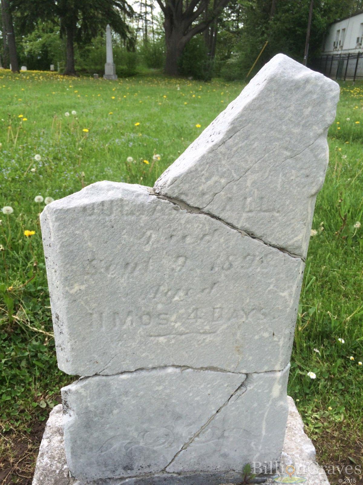 BillionGraves, gravestone, grave, damaged gravestones, cemetery, family history, ancestors, community service project, JustServe, BillionGraves app, broken gravestone