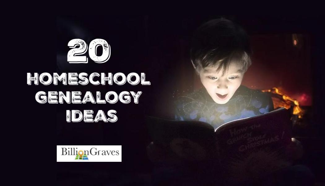 20 Homeschool Genealogy Ideas