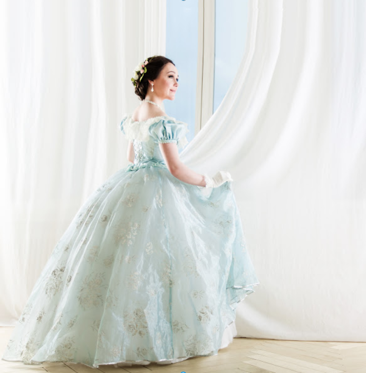 ball gown, happy woman, dance